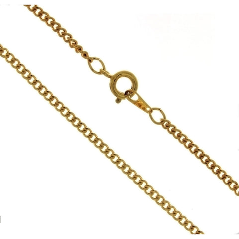CHAIN NECKLACE CURB GOLD 2.4 MM X 18 IN (DOZ)