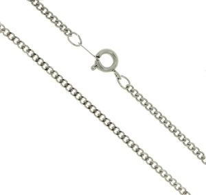 CHAIN NECKLACE CURB SILVER 2.4 MM X 18 IN (DOZ)
