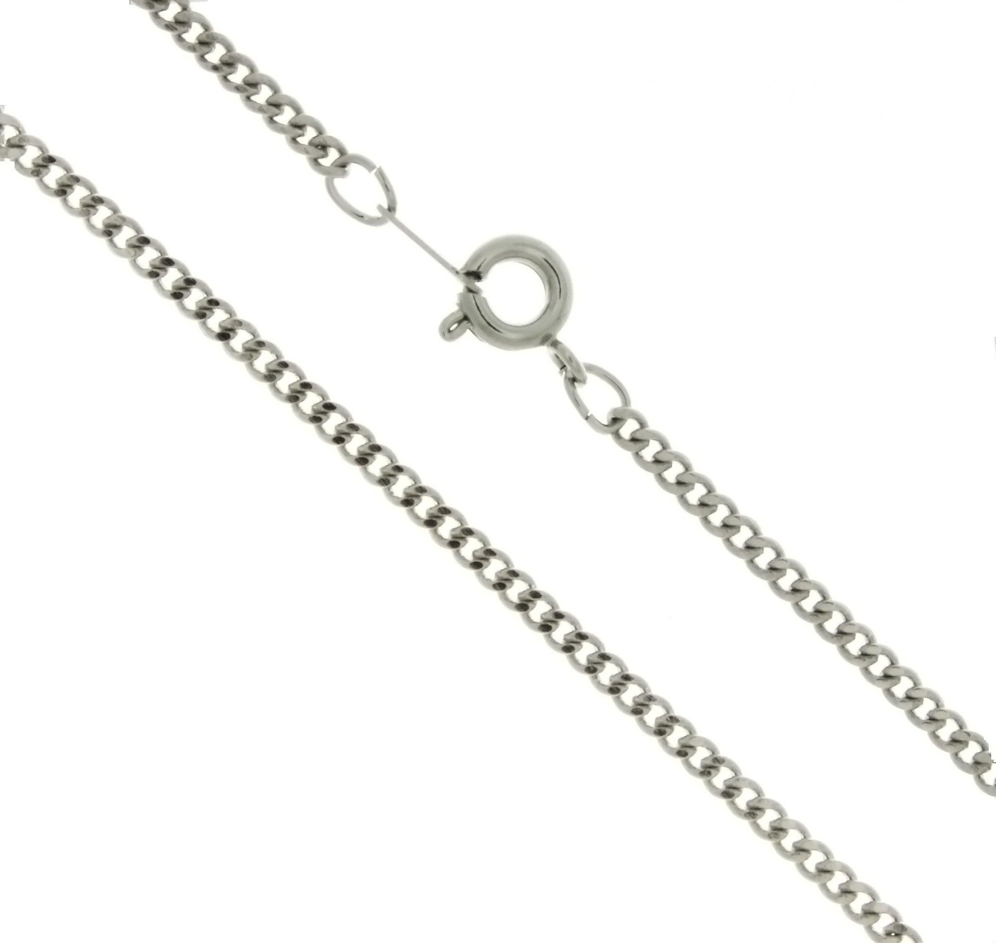 CHAIN NECKLACE CURB SILVER 2.4 MM X 24 IN (DOZ)