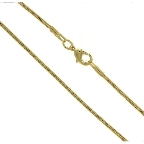 CHAIN NECKLACE SNAKE GOLD 1.6 MM X 24 IN (DOZ)