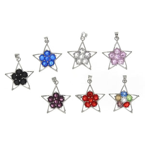 CUBIC ZIRCONIA STAR 23 X 26 MM PENDANT