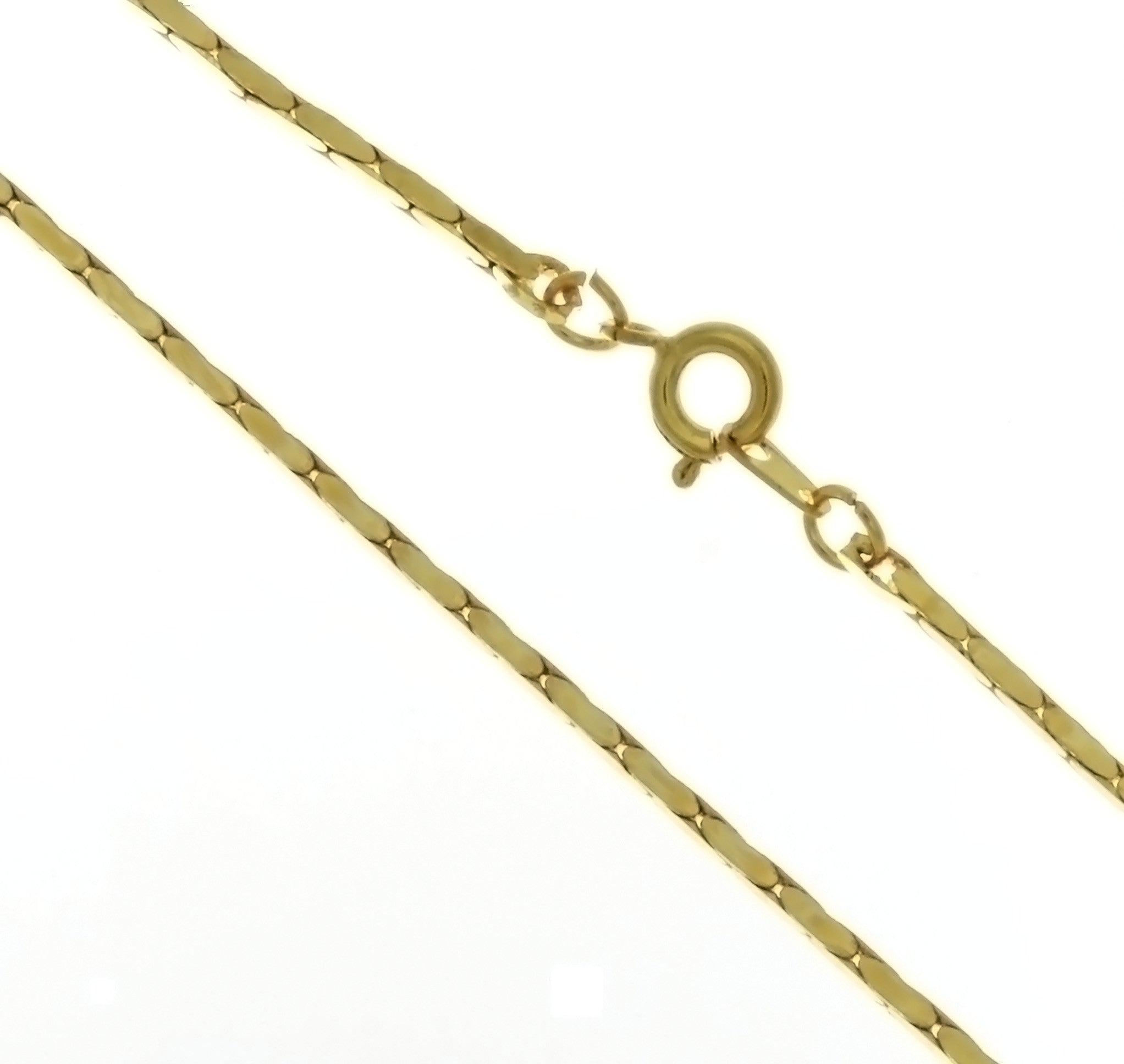 CHAIN NECKLACE ZEBRA GOLD 1.4 MM X 18 IN (DOZ)