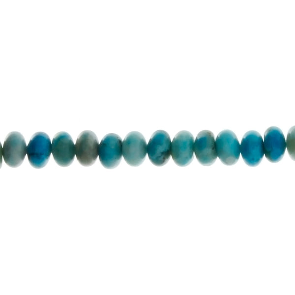 PEACE STONE BLUE RONDELLE 3 X 6 MM STRAND