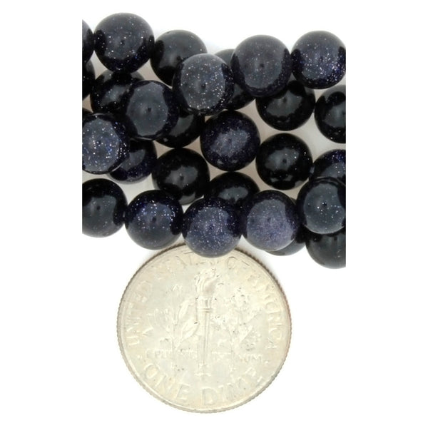 GOLDSTONE BLUE ROUND 6 MM STRAND