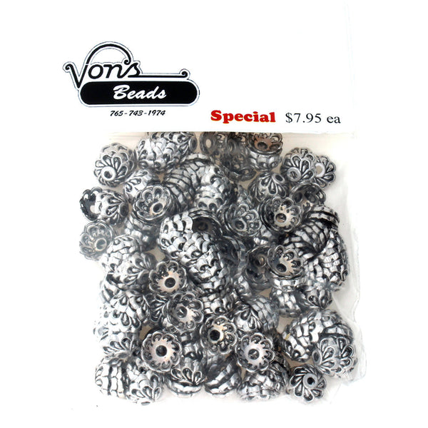 BEAD CAP 10 MM PEWTER FINDING (80 G)