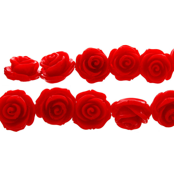 RESIN PLASTIC ROSE 23 MM STRAND