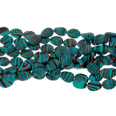CALSILICA TEAL TEARDROP 14 X 18 MM STRAND