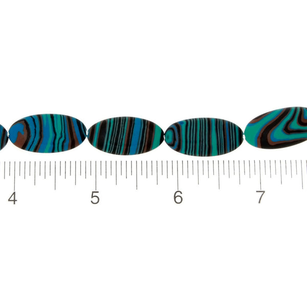 CALSILICA TEAL OVAL 5 X 16 MM STRAND