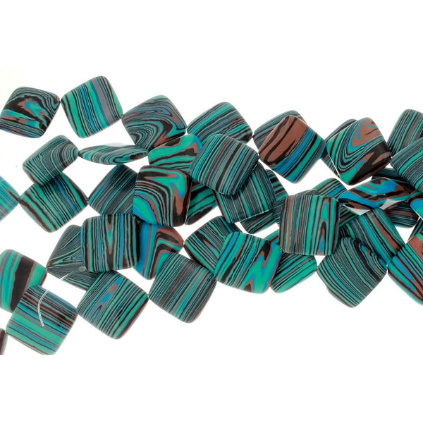 CALSILICA TEAL DIAMOND 24 MM STRAND