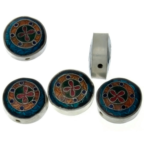 CLOISONNE COIN 8 X 15 MM LOOSE (5 PC)