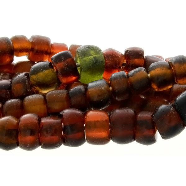 BALI RECYCLED RONDELLE 6 X 8 MM STRAND