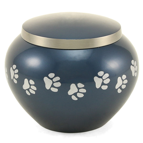 Odyssey Metal Pet Urn | Moonlight Blue