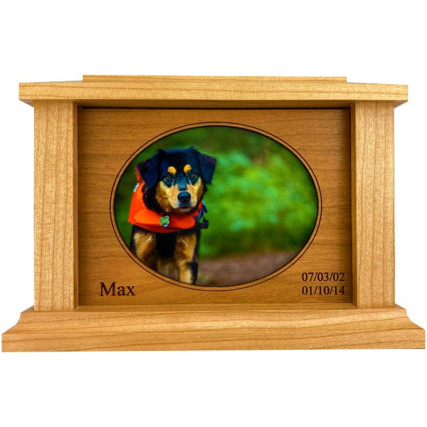 Oval Frame Pet Urn | Cherry