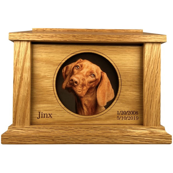 Circle Frame Pet Urn | Oak