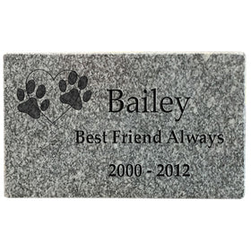 Grey Granite Pet Headstone