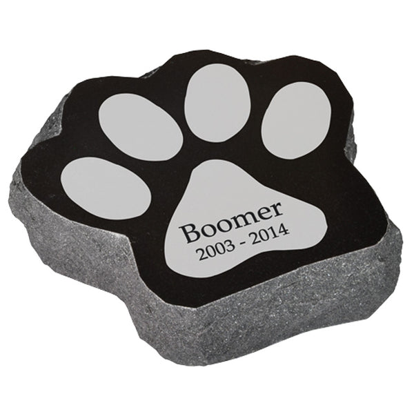 Paw Shaped Pet Grave Marker