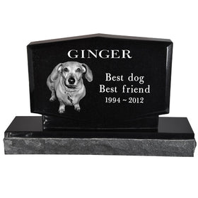 Diamond Shaped Pet Headstone