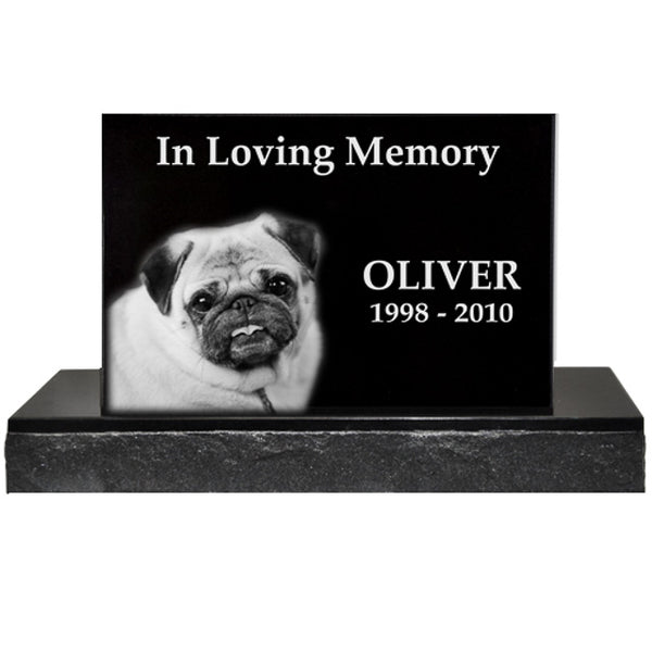 Granite Pet Headstone with 16