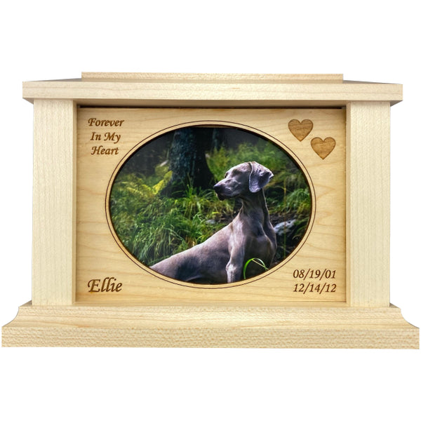 Oval Frame Pet Urn | Maple