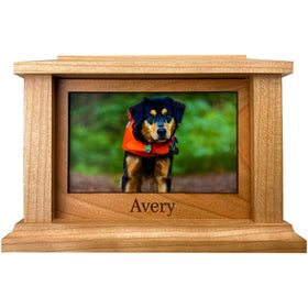 Simple Rectangle Pet Urn | Cherry