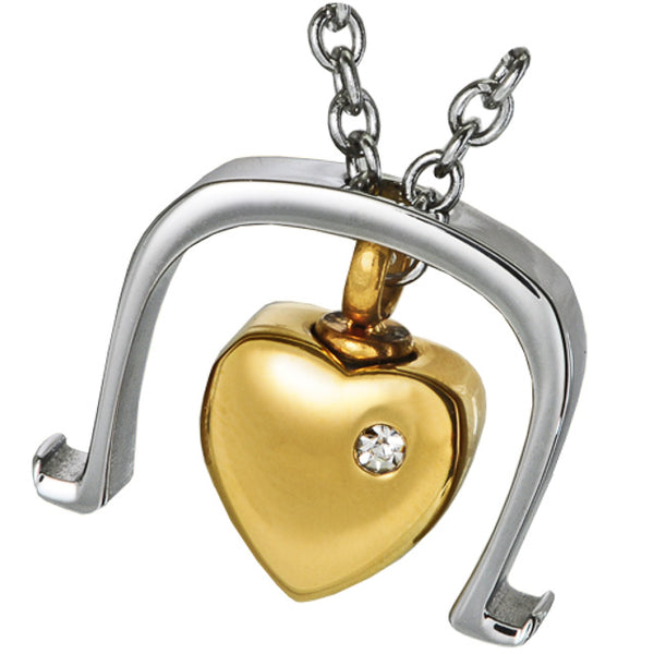 Heart On Chain Cremation Pendant