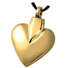 Modern Brass Heart Cremation Pendant