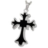 Black and Silver Cross Pendant