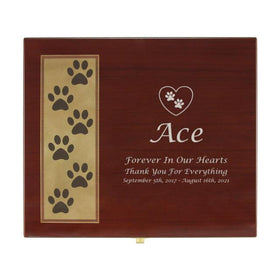 Paw Print Memory Chest