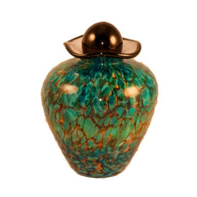 Bella Glass Pet Urn | Aegean