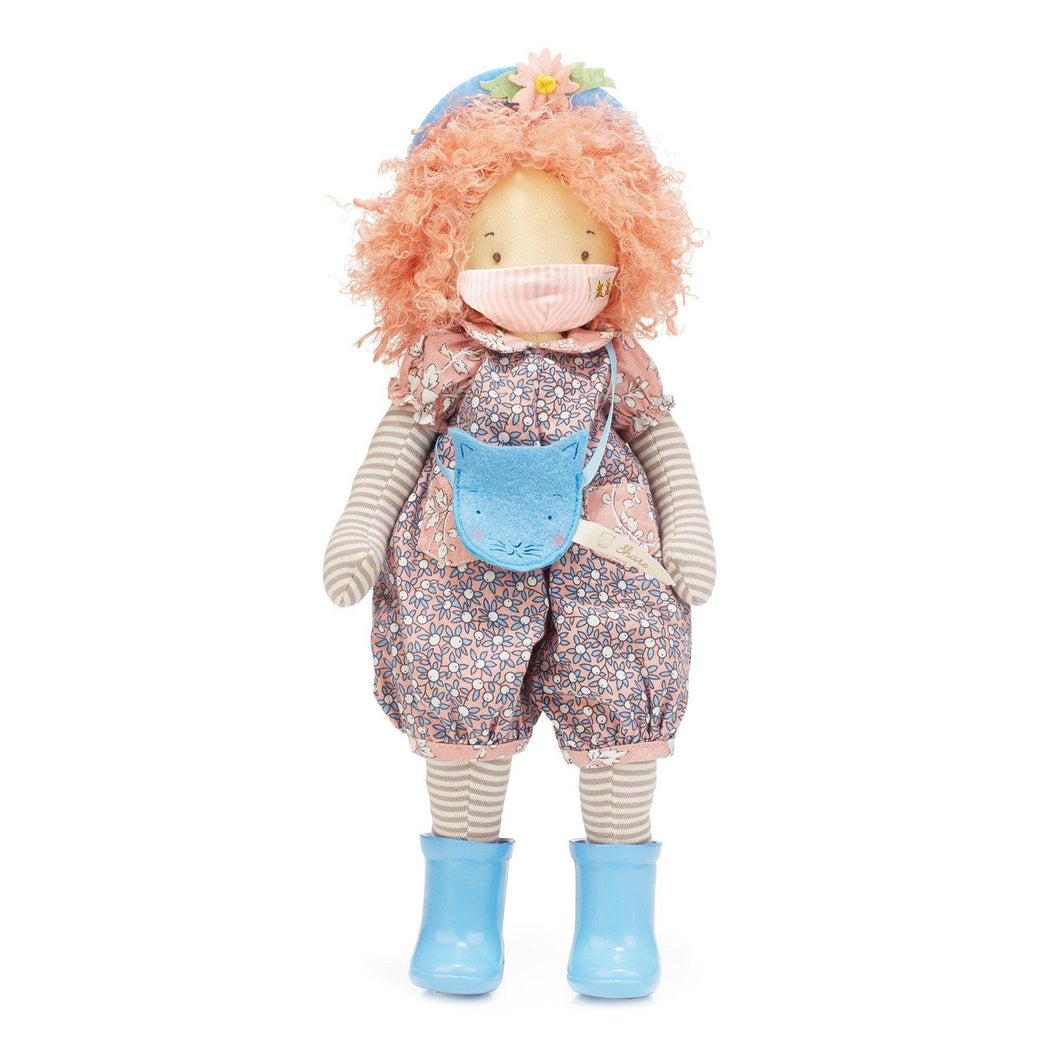 Rosie Girl Friend Doll with Pink Pinstripe Face Mask