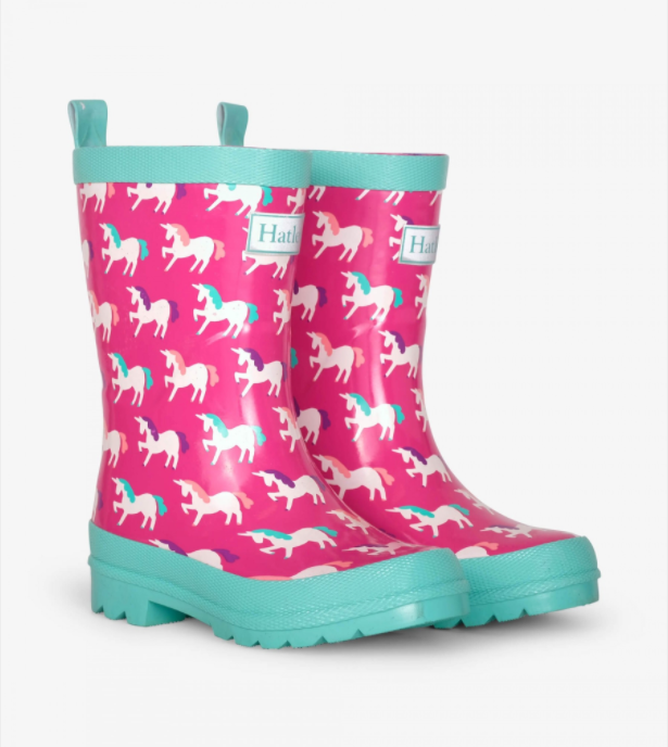 Hatley - Mystical Unicorns Shiny Rain Boots