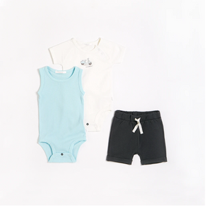 FIRSTS - Motorino Outfit Set with Organic Cotton (3 pcs.)