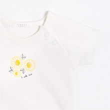 Load image into Gallery viewer, FIRSTS - Sunflowers Outfit Set with Organic Cotton (3 pcs.)