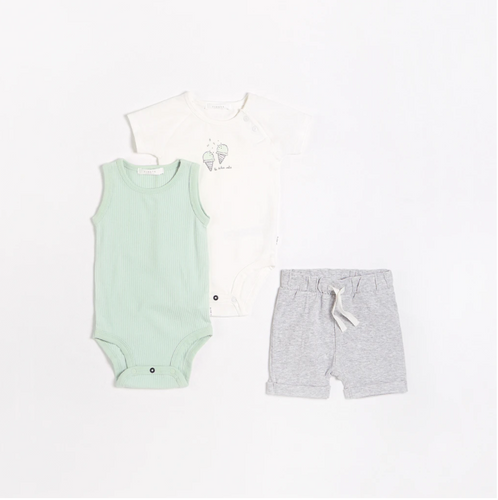 FIRSTS - Gelato Outfit Set with Organic Cotton (3 pcs.)