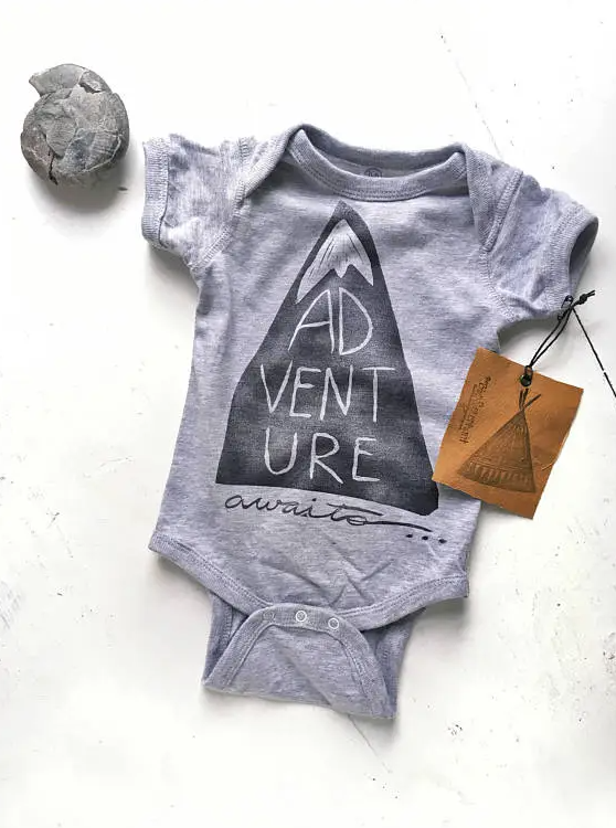 The Bird and Elephant - Cotton Bodysuit - Adventure Awaits