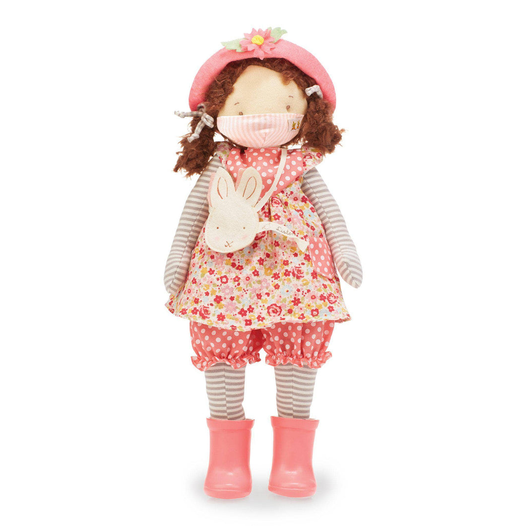 Daisy Girl Friend Doll with Pink Pinstripe Face Mask