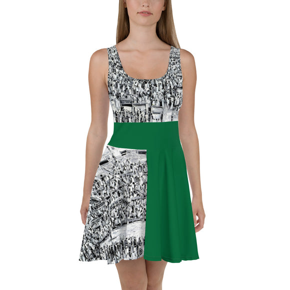 Forest Fashion Skater Dress