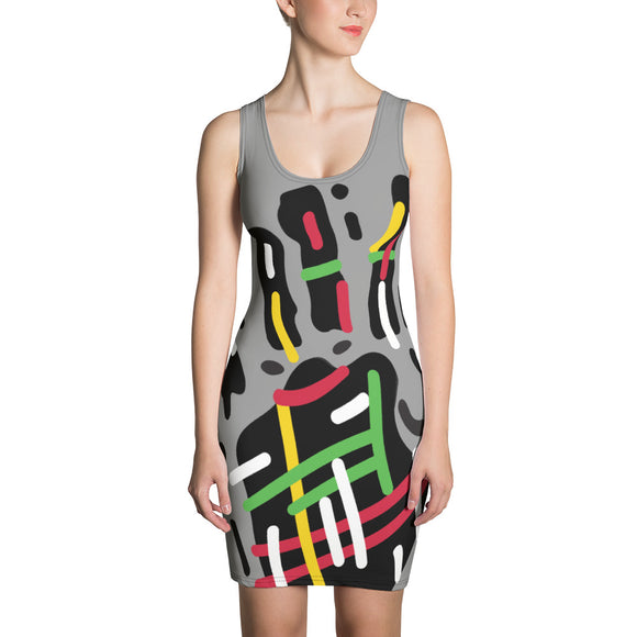 Color hand Sublimation Cut & Sew Dress