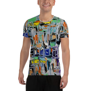 Seascape All-Over Print Men's Athletic T-shirt