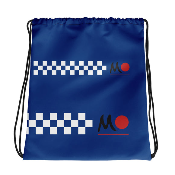 MO Blue Drawstring bag