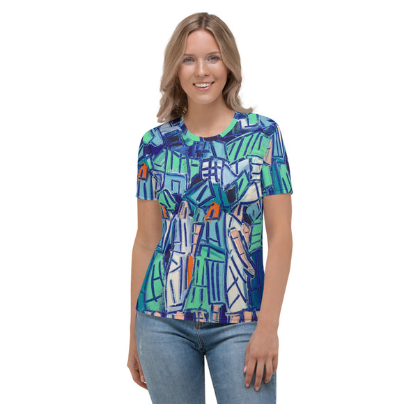 Blue Green Women's T-shirt