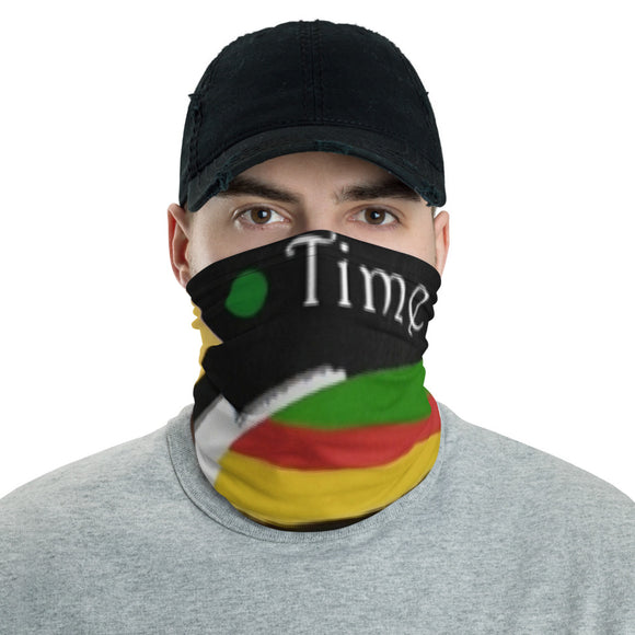 Time Face Neck Gaiter