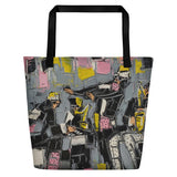 Grayscale Beach Bag
