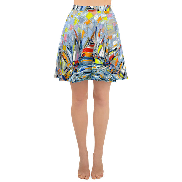 Seascape Skater Skirt