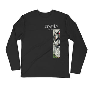 CRYPTO Long Sleeve Fitted Crew