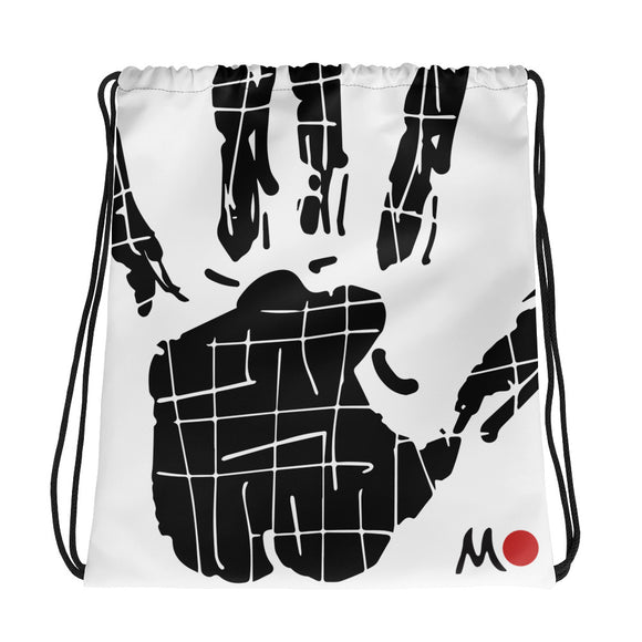 Hand Stamp Drawstring bag