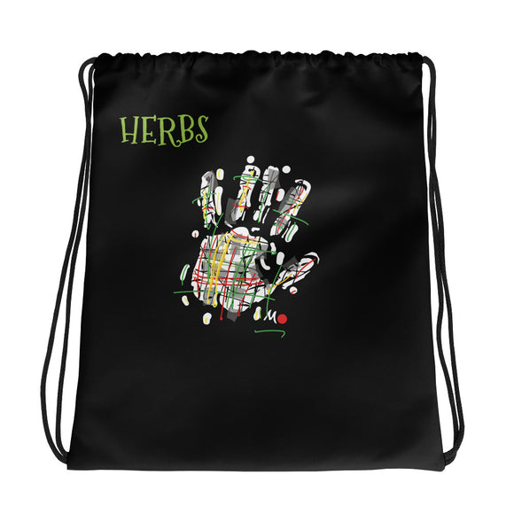 Herbs Drawstring bag