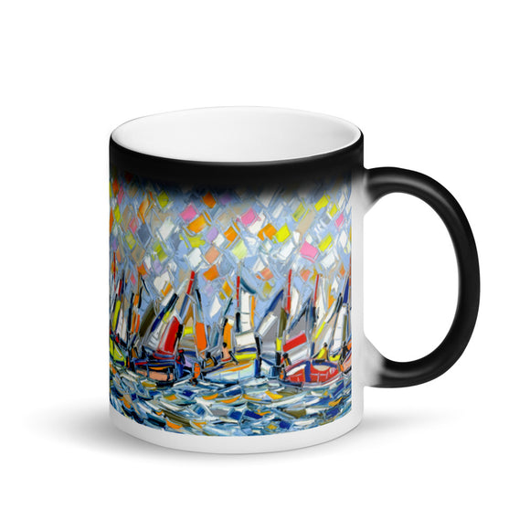 OCEAN SPORT Matte Black Magic Mug