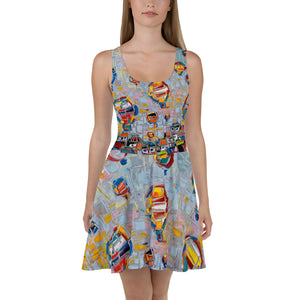 FLOATING HIGH Skater Dress