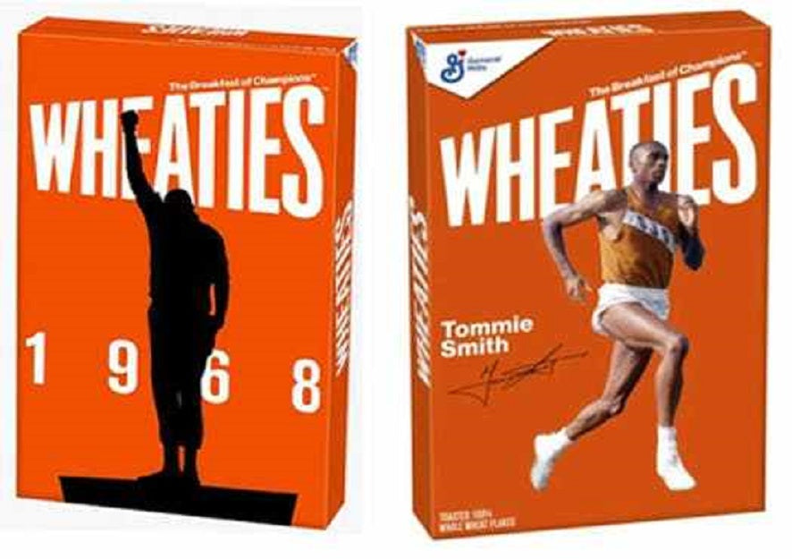 Feature News: Olympian Tommie Smith, Who Took A Stand In 1968 And Was Punished, Graces Cover Of Wheaties Cereal Box